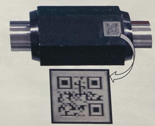 樹脂素材にQRコード刻印